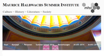 Maurice Halbwachs Summer Institute
